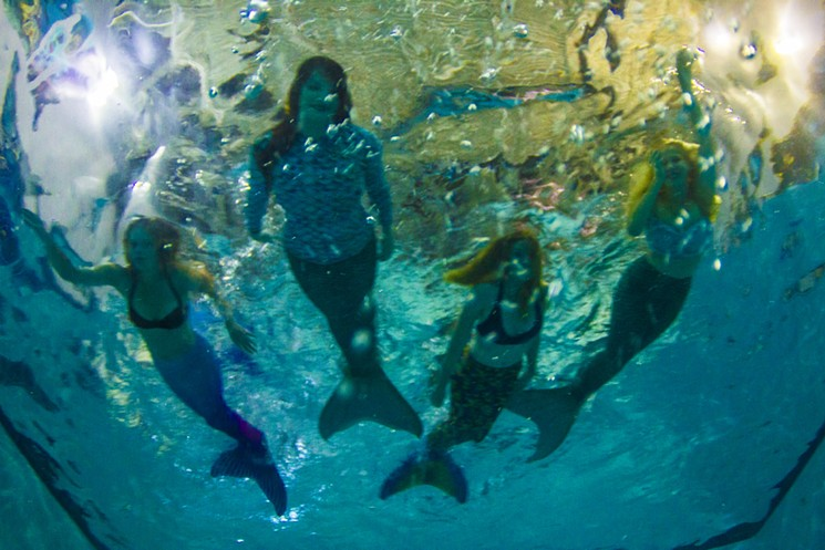 Practice your mermaid swimming skills at Mermaid Swim Practice